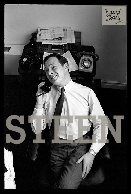 BRIAN EPSTEIN, HIS OFFICE, LIVERPOOL, ENGLAND, 1963
