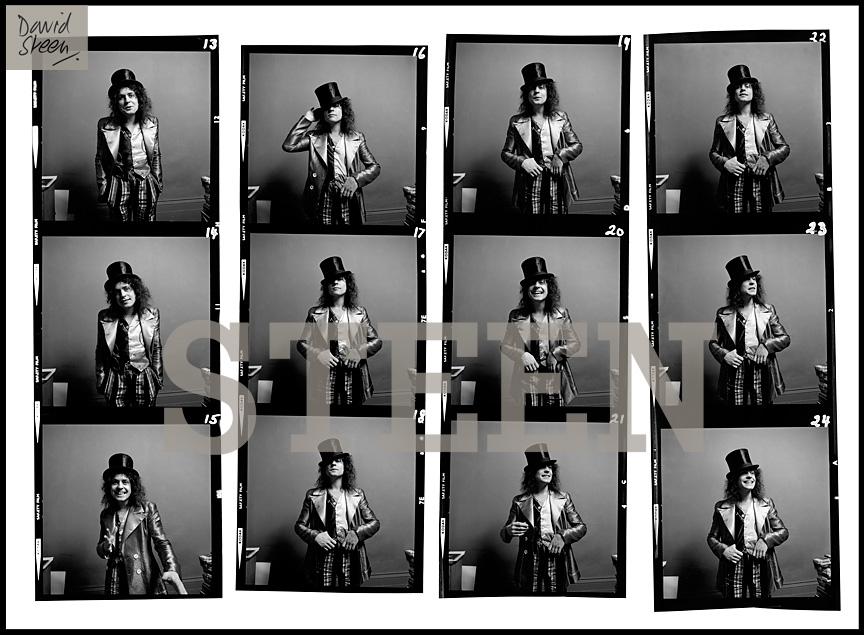 MARC BOLAN, CONTACT SHEET, BARNES, LONDON, 1972