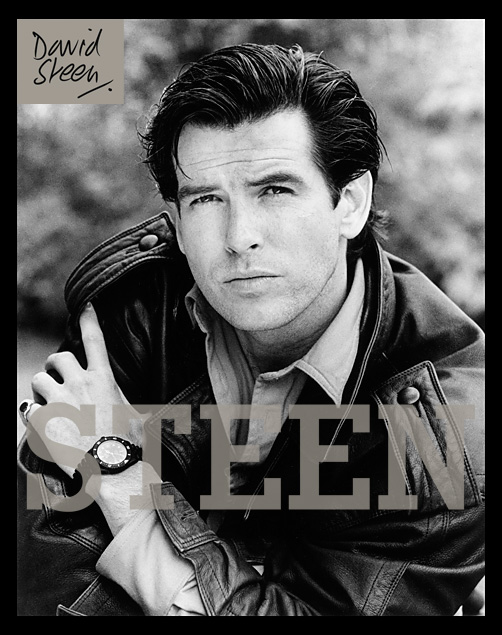 PIERCE BROSNAN, LONDON, 1986