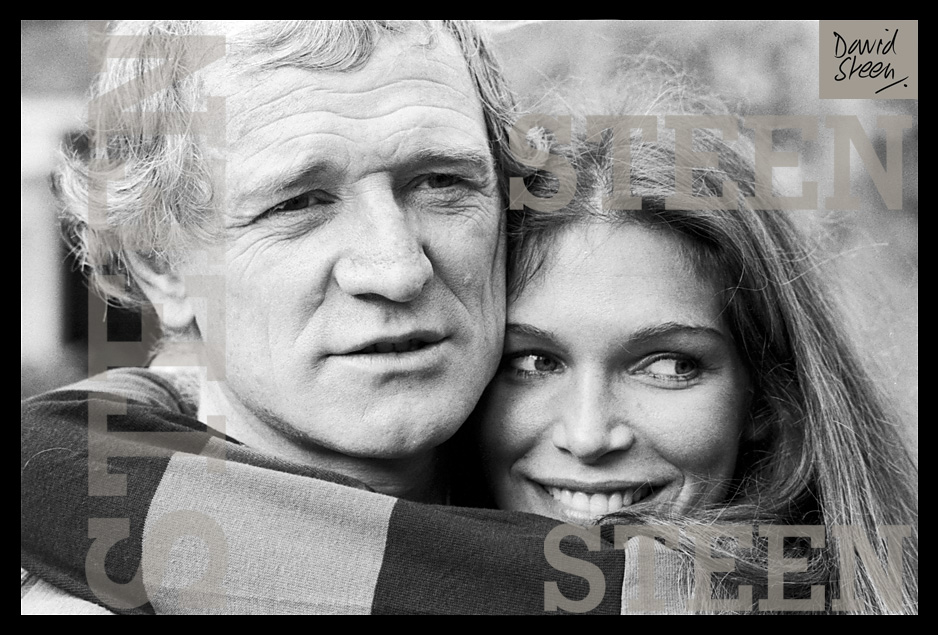 RICHARD HARRIS & ANN TURKEL, NASSAU, BAHAMAS, SEPTEMBER, 1976