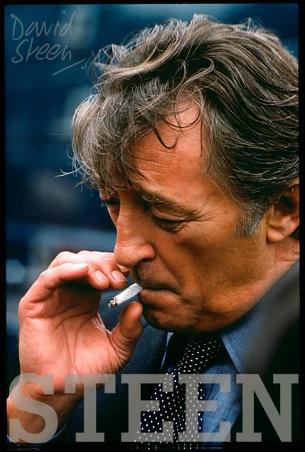 ROBERT MITCHUM, 'THE BIG SLEEP', LONDON, SEPTEMBER, 1977