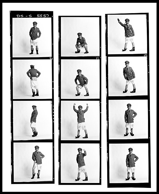 FREDDIE STARR, CONTACT SHEET, LONDON, 1981