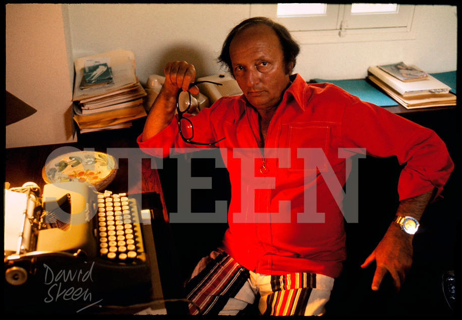 HAROLD ROBBINS, CANNES, SOUTH OF FRANCE, JULY, 1972
