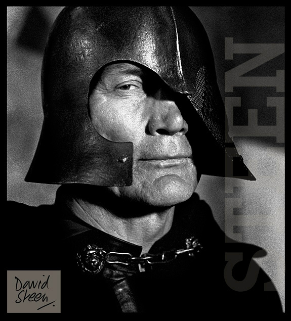 JACK PALANCE, AS VOLTAN, HAWK THE SLAYER, LONDON, MARCH, 1980