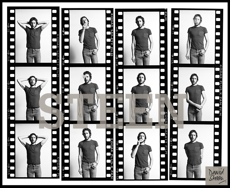 PETE TOWNSHEND, CONTACT SHEET, HIS HOME, TWICKENHAM, LONDON, 1977