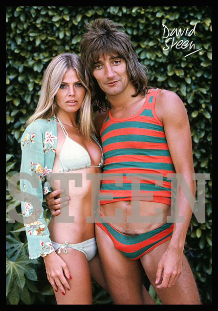 ROD STEWART & BRITT EKLAND, BEVERLY HILLS, LOS ANGELES, MARCH, 1976