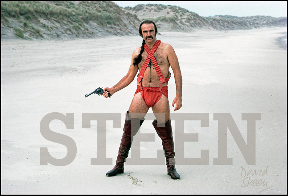 SEAN CONNERY, 'ZARDOZ', COUNTY WICKLOW, IRELAND, 1973