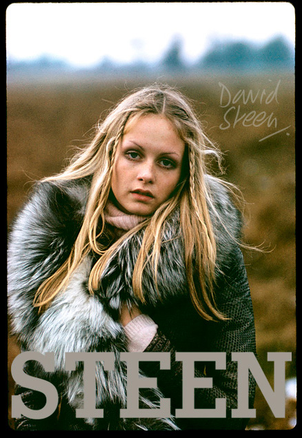 TWIGGY, RICHMOND PARK, LONDON, JANUARY, 1971